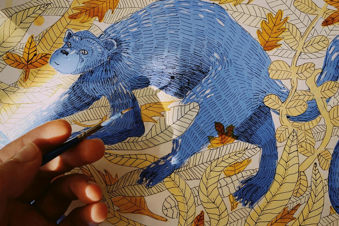 Animales Azules de Lucía Coz - Rompecabezas N5