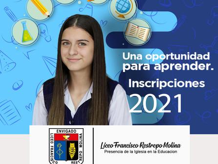 Una oportunidad para aprender.  Inscripciones 2021