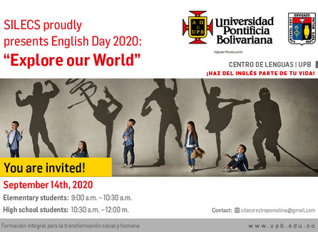 "SILECS proudly presents English Day 2020: ""Explore our World"""