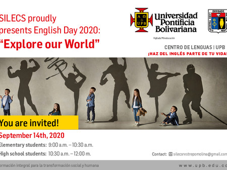 """SILECS proudly presents English Day 2020: """"Explore our World"""""""