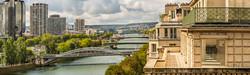 Vue dégagée sur la Seine