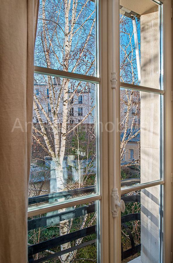 Appartement à Passy - Vue sur jardin