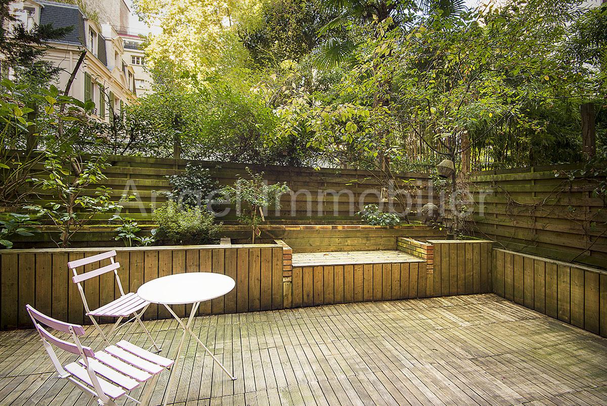 Rez de jardin rue Boileau à Paris