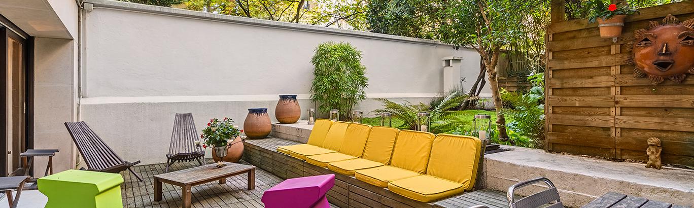 Duplex à Paris Auteuil avec jardin
