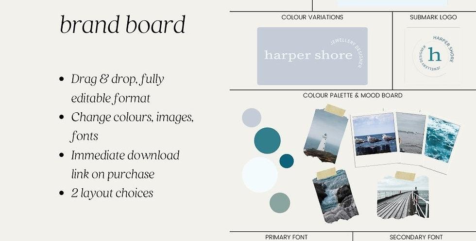 Canva Template – Brand Board Mood Board