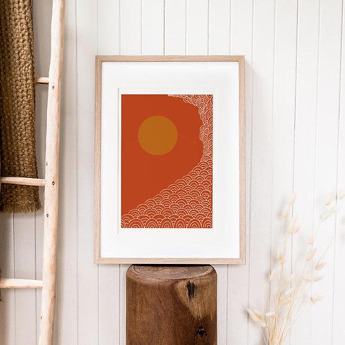 Abstract Print – Burnt Orange 14