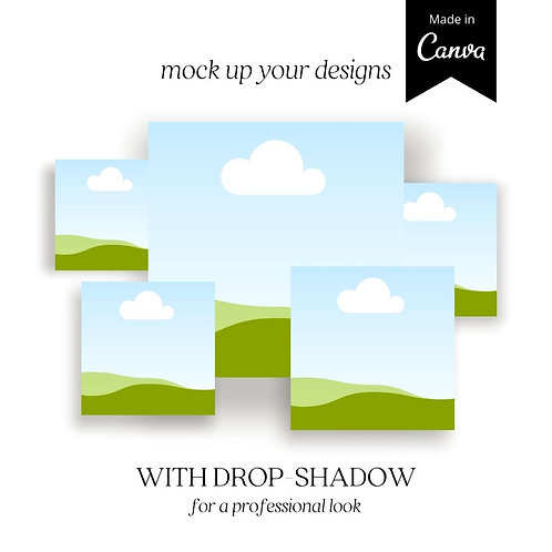 Canva Template – Square Mock Ups With Drop-shadow