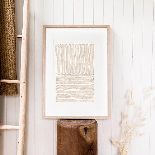 Abstract Print – Burnt Orange 10