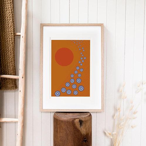 Abstract Print – Burnt Orange 09