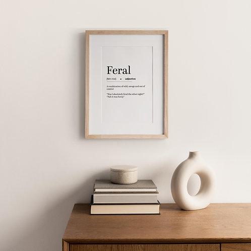 Typography Print – Feral