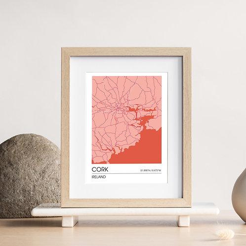 Map Print – Cork, Ireland