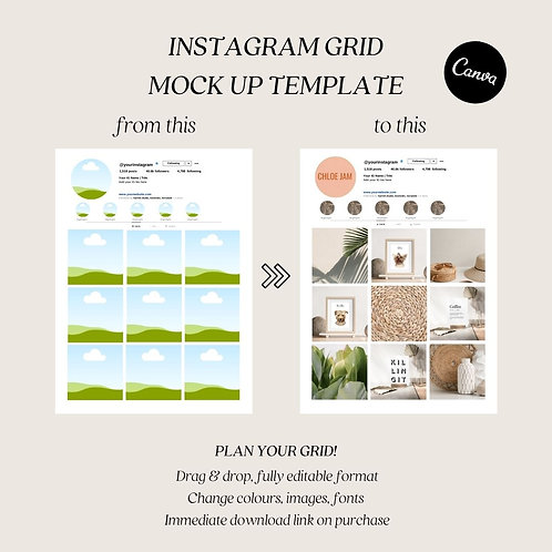 Canva Template Digital Product Instagram Planner