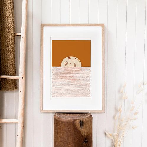 Abstract Print – Burnt Orange 08