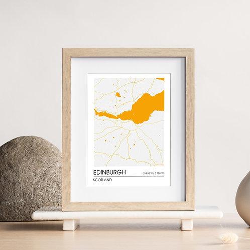 Map Print – Edinburgh, Scotland