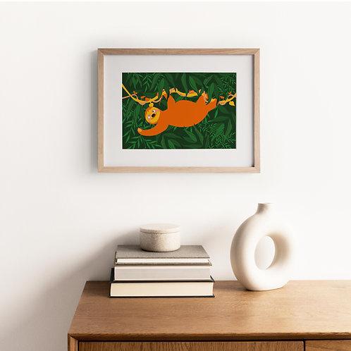 Animal Print – Sleepy Sloth