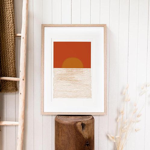 Abstract Print – Burnt Orange 04