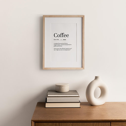 Typography Print – Coffee