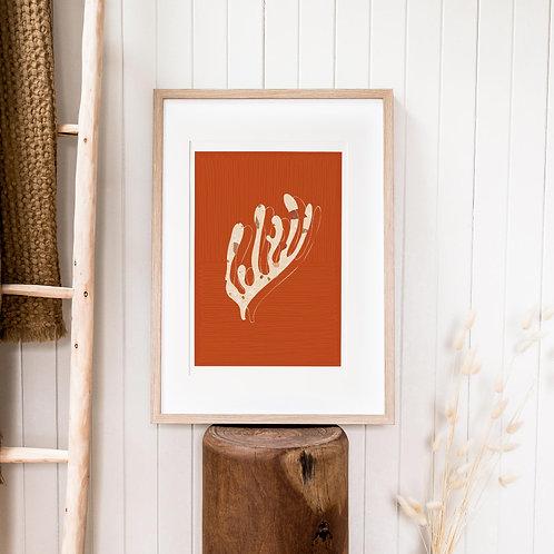 Abstract Print – Burnt Orange 16