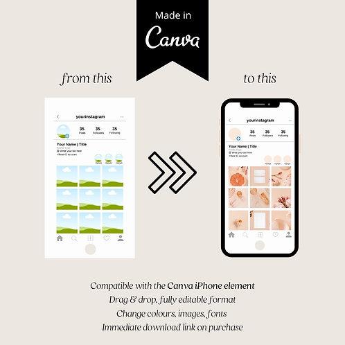 Instagram Mock Up for Canva Iphone Element