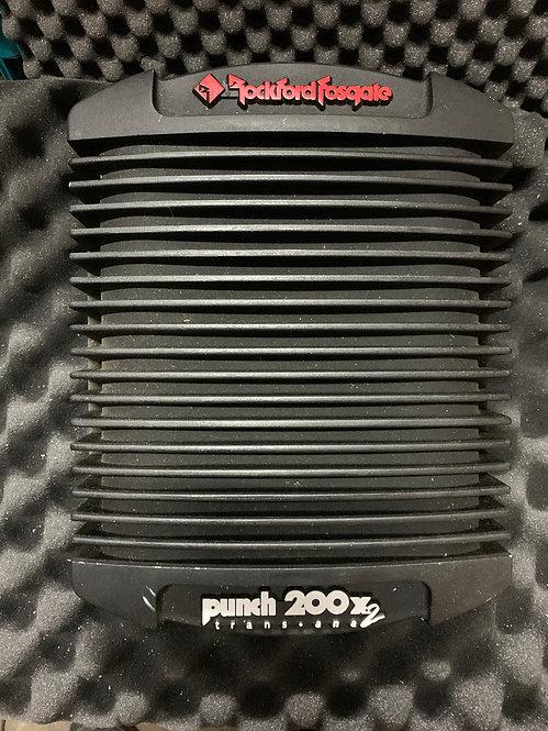 Rockford Fosgate Punch 200x2 trans ana. Cheater Amp