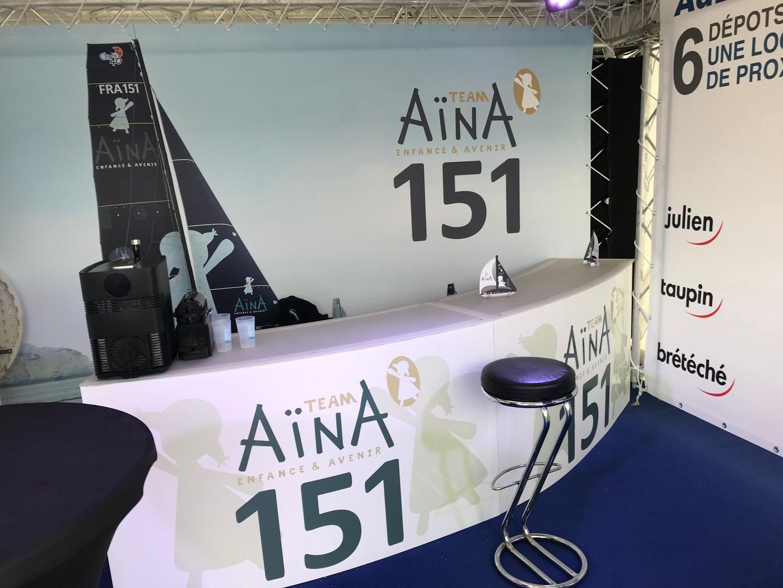 "Stand ""team Aïna"" sur la Transat Jacques Vabres"
