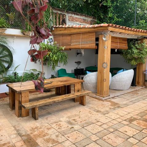 Patio and Outdoor Table and Patio at Villa Carolina Chef Ivan Casa