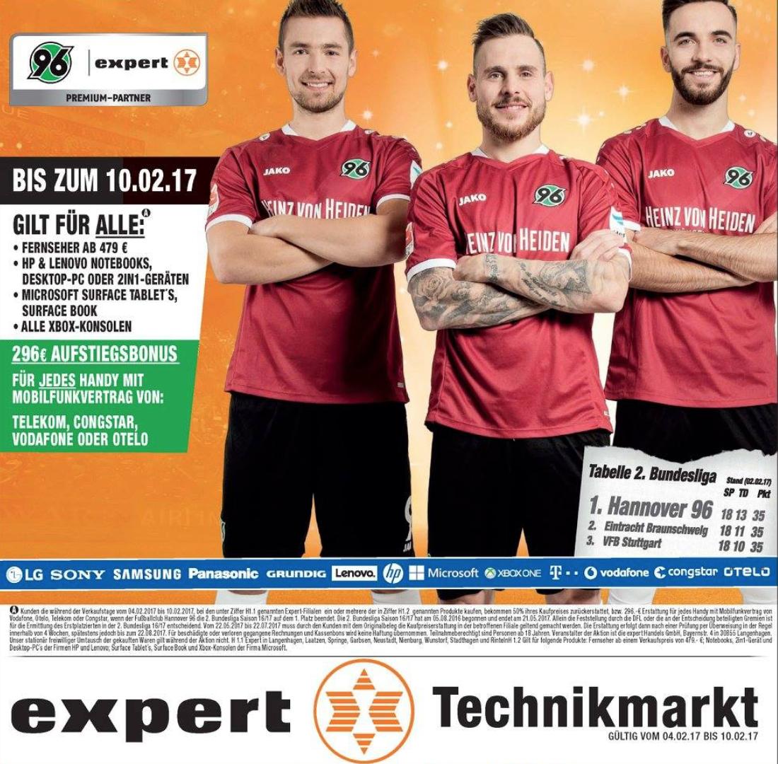 Expert Kampagne Hannover 96 inkl. Fotoshooting