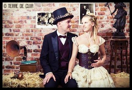 Corset cuir pour mariage steampunk