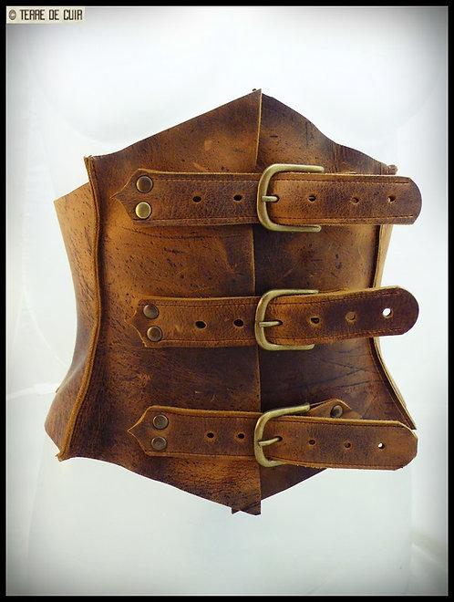 Corset ceinture cuir style médieval