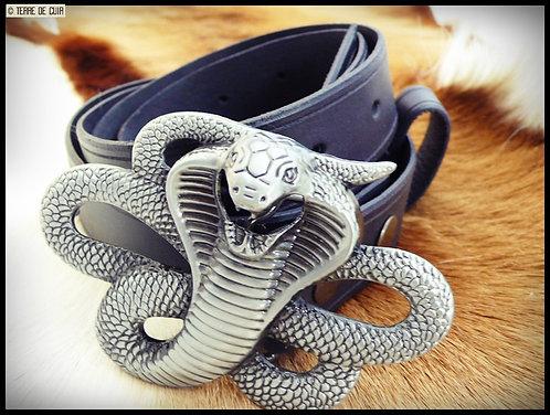Ceinture Cobra  - cuir tannage végétal