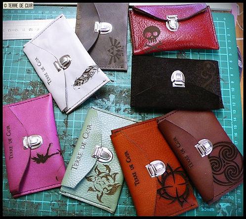 Petite pochette Porte-monnaie/porte-carte en cuir
