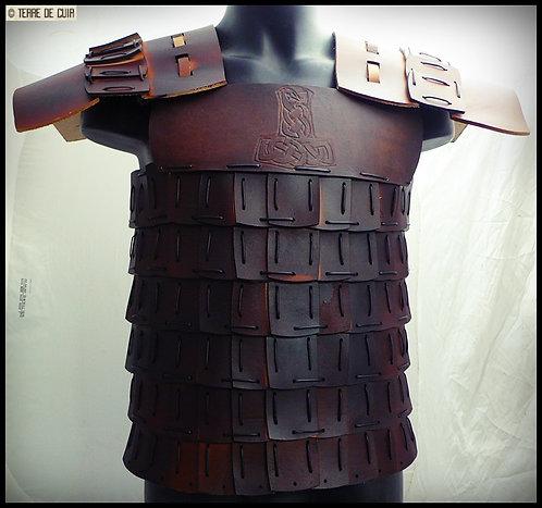 Cuirasse lamellaire Viking - cuir tannage végétal