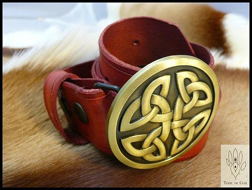 Ceinture Celtique  - cuir tannage végétal