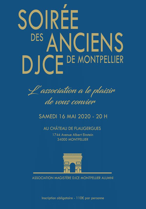 Soirée des anciens Magistères/DJCE Montpellier - samedi 16 mai 2020
