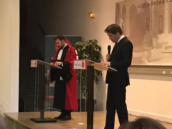 Rentrée solennelle de la Faculté de droit de Montpellier en présence du grand témoin Paul Lignières