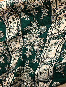 florals in green background