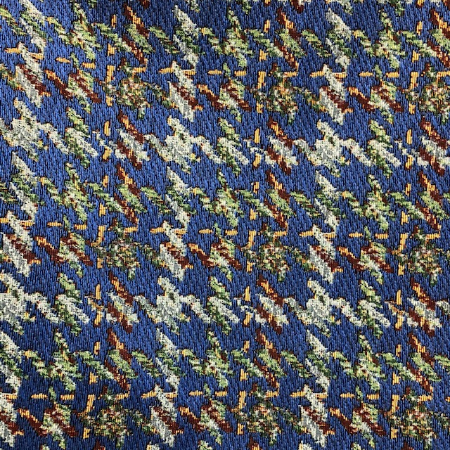 houndstooth fabric in navy blu with yell