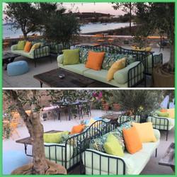 outdoor decor as a restaurant in Paros .
