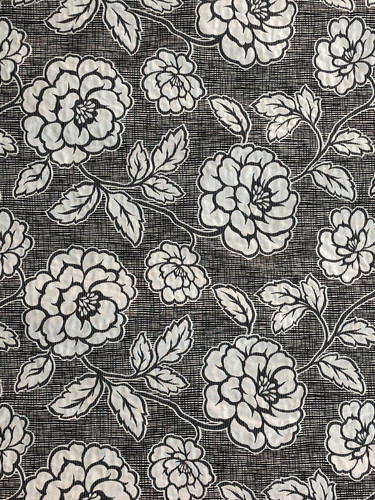 Large roses in off- white  - reversible pattern