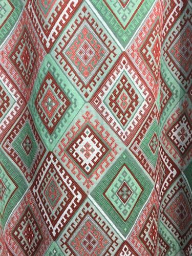 Aztec in teal + rustic tones