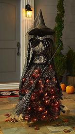 Halloween witch tree