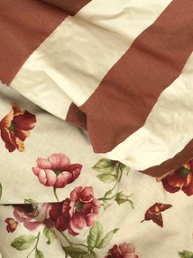 florals with stripes-red-