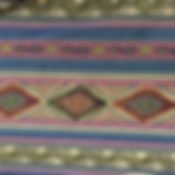 Aztec Pattern - deep blue, gold and red colors