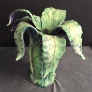 Porcelain leaf vase