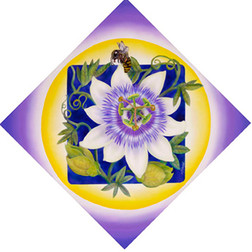 Passionflower and Bee