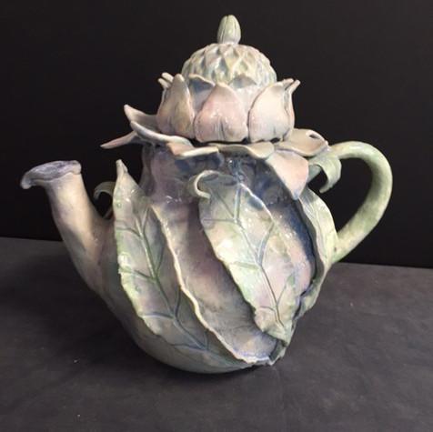 Abalone flower teapot
