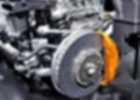 Car ceramic disc brake with yellow calip