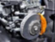 freno de disco de cerámica coche con pin