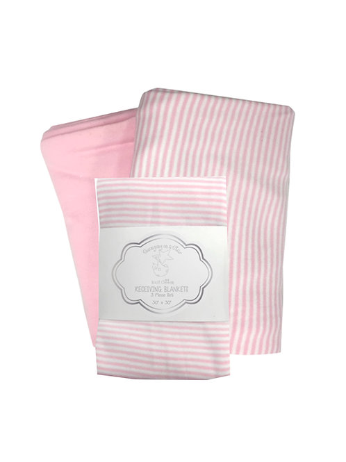 Pink 2 Piece Blanket Set #505