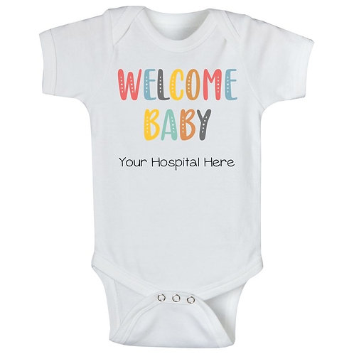 Colorful Welcome Baby (Your Hospital Name)